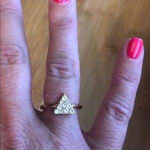 Gorgeous Elizabeth & James rose gold triangle ring